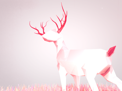 Fuck it. Deer Have Red Antlers and Red Tails. Fact.  stylized lowpoly animals animal nature c4d cinema 4d low poly deer