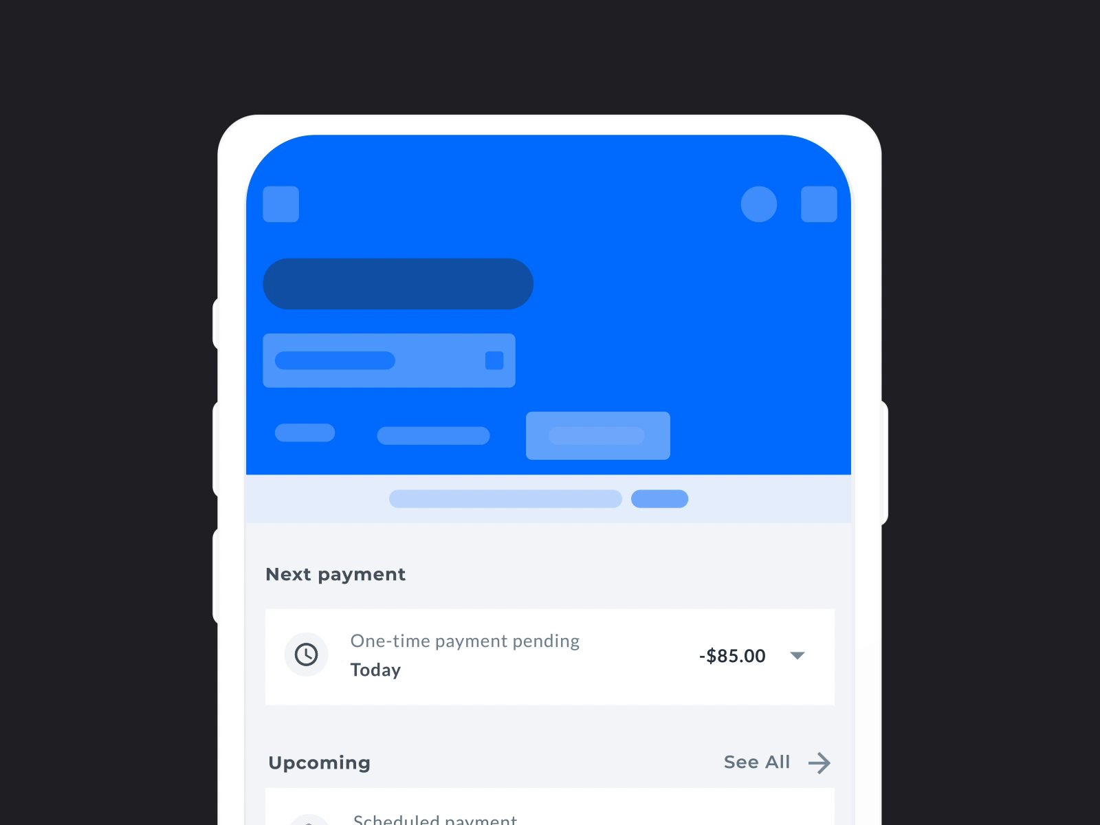 Payment Activity Interaction