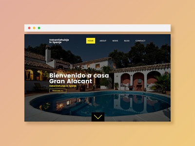 Holiday in Spain responsive wordpress one page holiday spain orange yellow gradient photoshop ux ui website