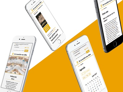 Webdesign - De Leesclub van Alles wordpress gold bookclub responsive ux ui mobile first webdesign dlva