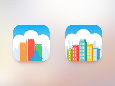 Mop City Icon icon mop app ui city building