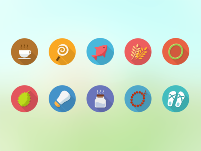 Colorful icons for Meiliwan