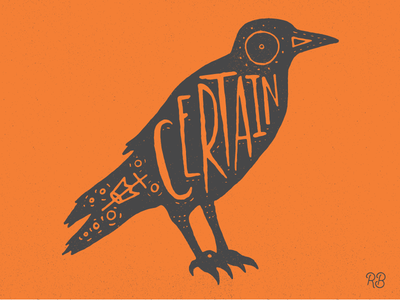 Certain hand drawn typography type texture occult lettering illustration grunge drawn design cult