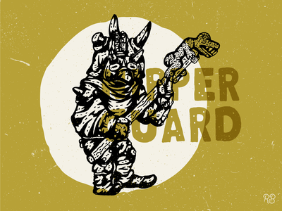 Nipper Guard Goblin labyrinth muppet creature guard goblin fantasy art fantasy hand drawn typography texture grunge lettering illustration