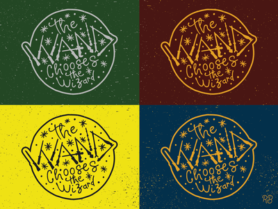 The Wand Chooses The Wizard kickstarter enamel pin hogwarts wizard wizards wizarding world wand harry potter fantasy art type fantasy hand drawn typography texture grunge lettering illustration