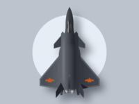 迎国庆 画个歼-20隐形歼击机