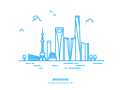 100 Days of Vector Illustration No.1 - Shanghai vector illustration city shanghai