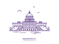 100 Days of Vector Illustration No.6 - Washington, D.C