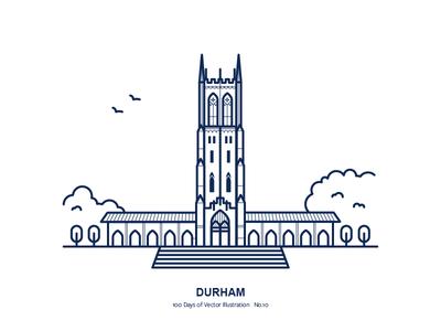 100 Days of Vector Illustration No.10 - Durham illustration city north carolina durham duke chapel duke