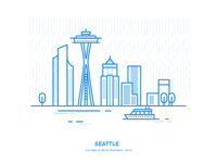 100 Days of Vector Illustration No.12 - Seattle