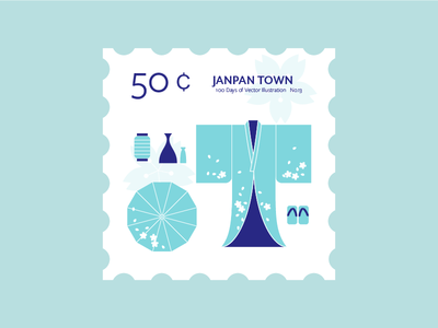 Japan Town v2 geta kimono stamp san francisco japan