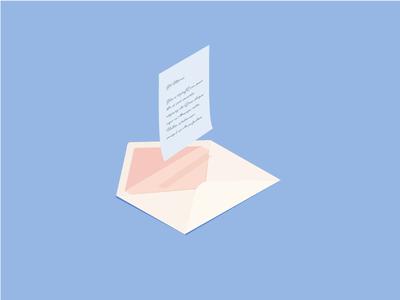 Drop me a line envelope message letter