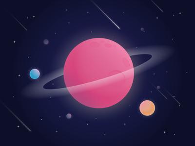 20 Planet + 2 Dribbble Invites invite planet universe
