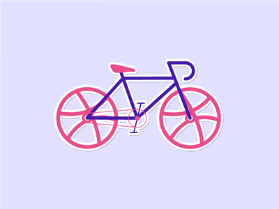 My Dribbble Sticker! bicycle sticker dribbble