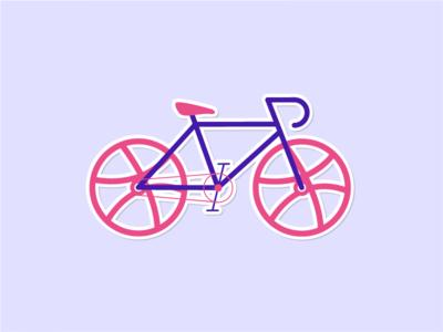 My Dribbble Sticker! bicycle sticker dribbble