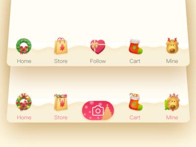 Christmas Icons holiday festival bar tab icon app