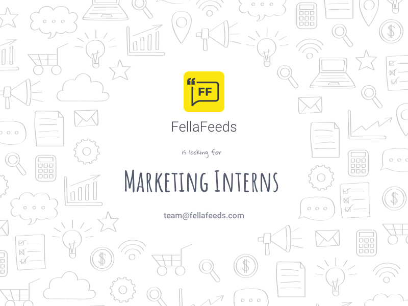 Post for the Fellafeeds Marketing interns requirement fellafeeds interns marketing web