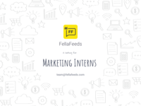 Post for the Fellafeeds Marketing interns requirement