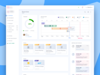 Dashboard to manage the progress of the project
