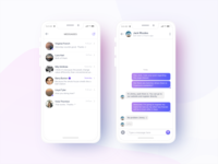 Messaging window within an app with message delivery notifier