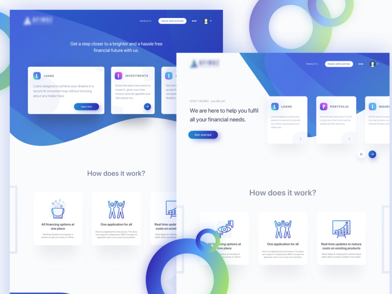 Landing page ideas for one of the FinTech startups. ✌🏻 dashboard progress investment portfolio finance loans app design abstract minimal landing page gradient web