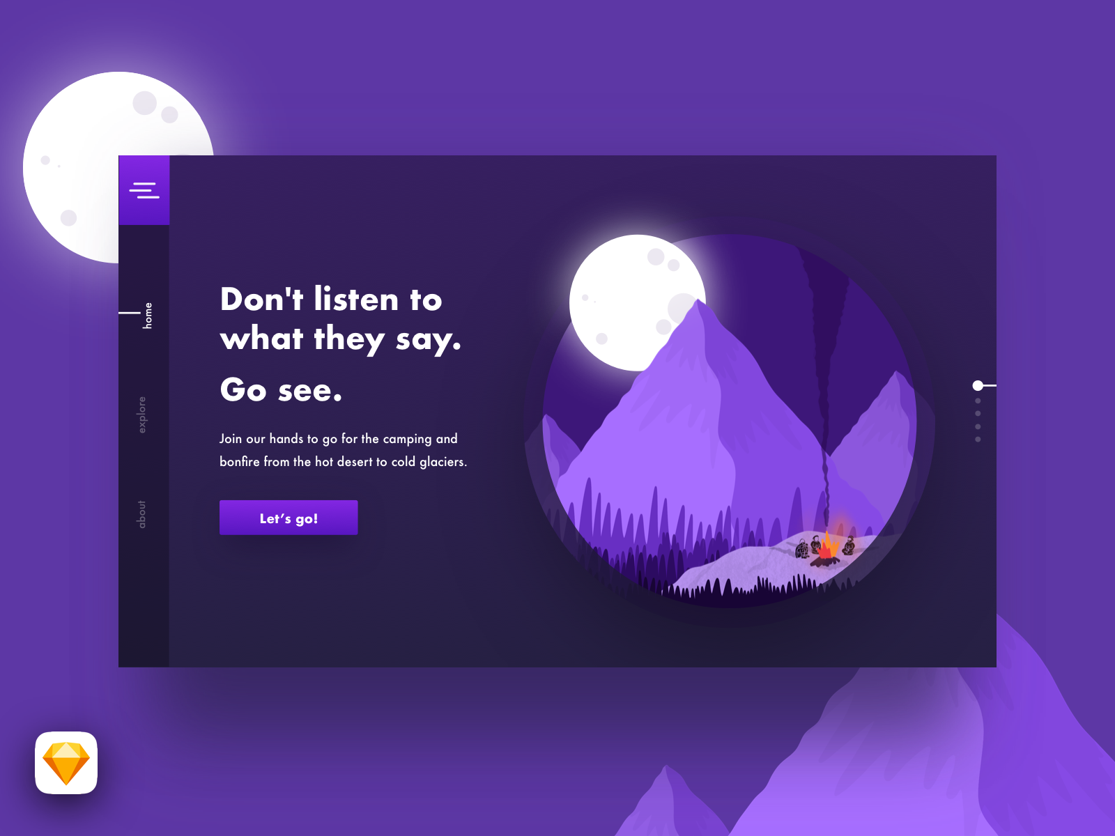 Day03 part 2 - Let's go and see the world - Concept UI landingpage raster procreate graphic illustration web ui