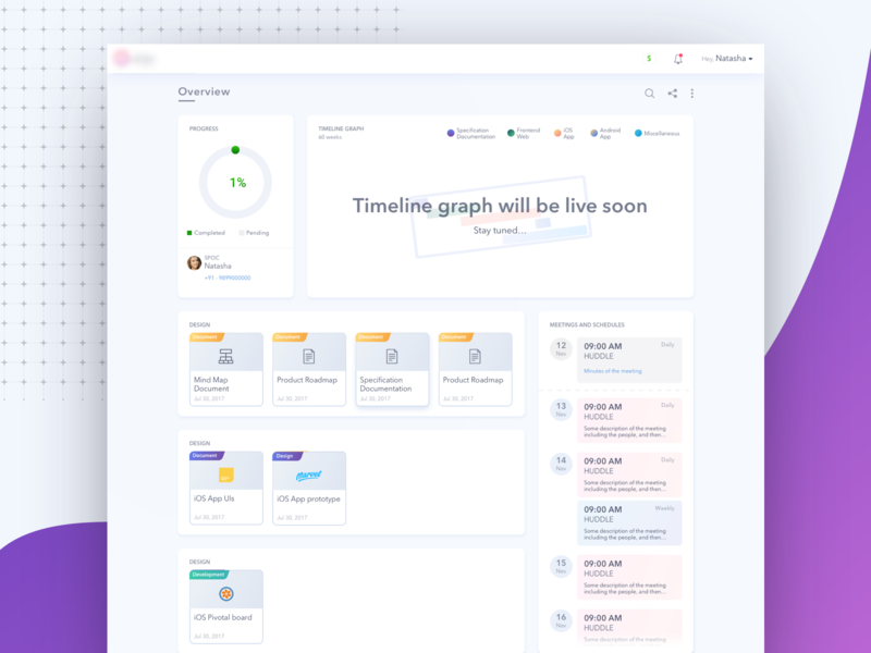 Empty State for one of the dashboards dashboard flat design documents meeting app dashboard ui minimal dashboard