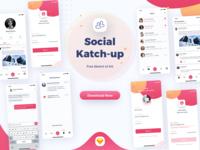 Social - Katchup Freebie - Sketch UI Kit