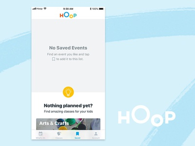Hoop Saved Tab
