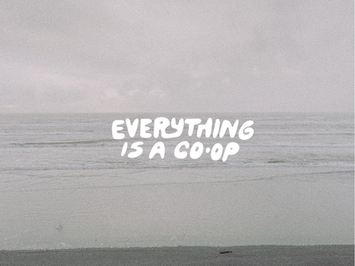 Think about it co-op pnw lettering goo type