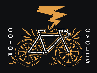 Ebikes are the future bicycle ebike illustration graphic electricity outside co-op cycle bike electric