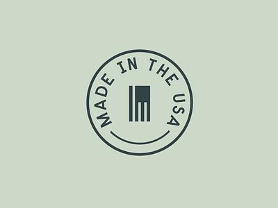"""I'm Made in the USA mark"" concept logo america usa flag type"