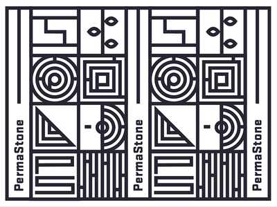 A killed concept for a flooring company branding typography monoline illustration symbol floors. architecture