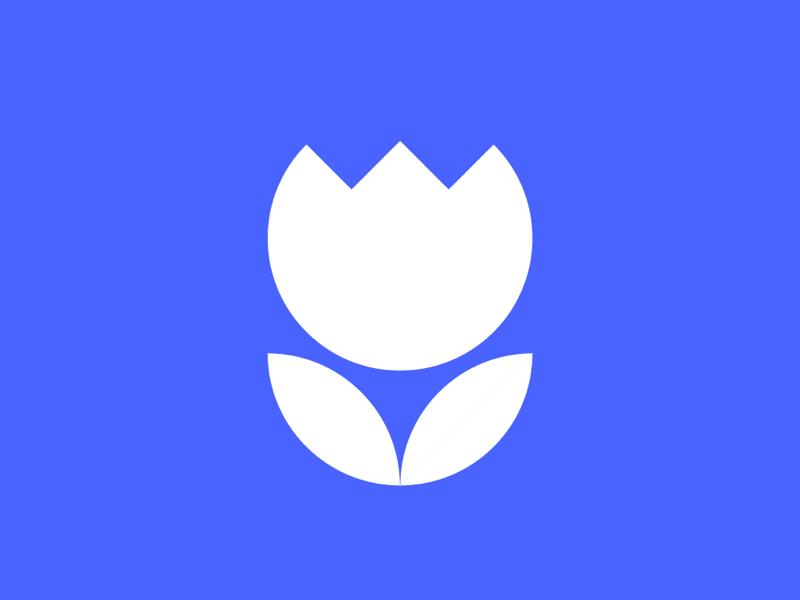 Dead flower mark shapes tulip logo