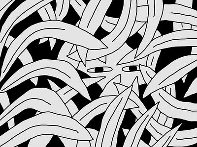 A natural socialite illustration eye plant doodle