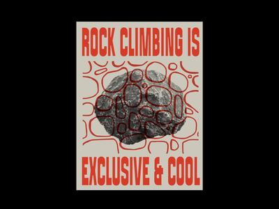 Promote world peace crag club pattern rock poster climbing