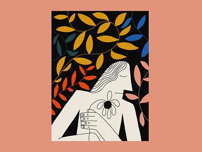 Nap Time plants collage pattern identity color vector design colors logo atlanta illustration