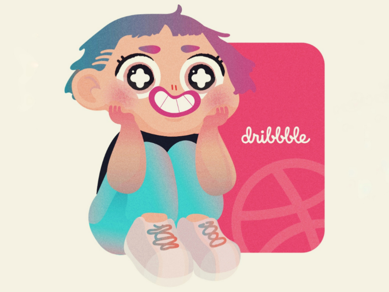 Hello! kid cute giddy colorful happy illustration debut