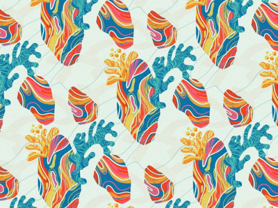 Marble Heart artph illustration digital colors design pattern heart marble