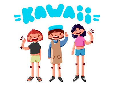 Friends ✨ kawai friendship friends photoshop digitalpainting digitalart character design illustration