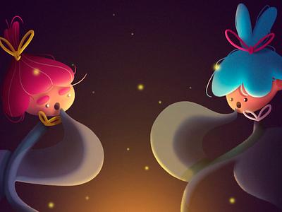 Sugar Plum Fairies ✨ magic flowers digitalpainting photoshop digitalart illustration