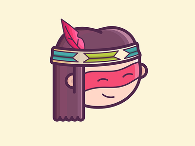 Little Guy native indian native american native digitalart digital painting character digitalpainting character design illustration