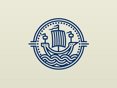 Merchant Ship Logo water power wind sails sailing vikings merchants boats shipping ships