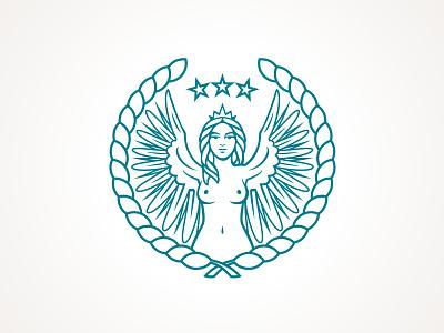 Harpy Logo woman winged mythological mythology roman greek logo harpy