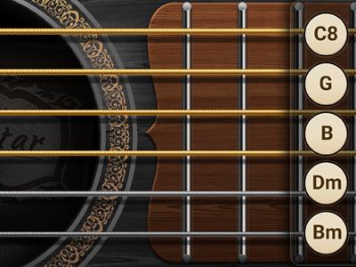 Guitar dribbble