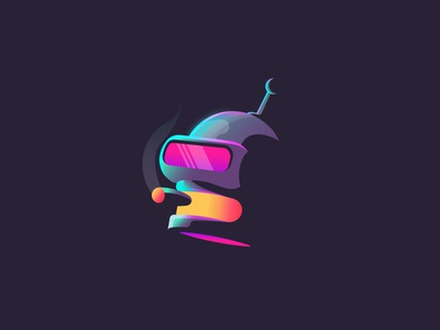 I Am Retro - Bender avatar neon robot 80s retro fanart cigar gradient futurama bender