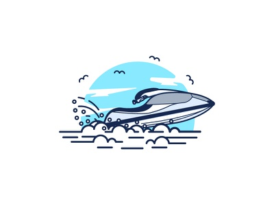 Jet Ski jet ski fast minimal sun water ocean