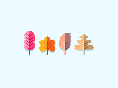 Face Of Autumn  graphic design rainy cold winter autumn tree colorful leaves illustration