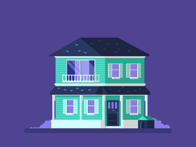 House Test #1 doghouse graphicdesign windows porch house illustration