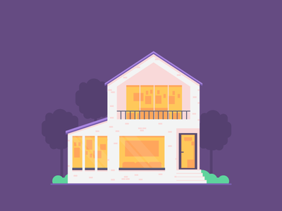 House Test #2 balcony stairs graphicdesign windows porch house illustration
